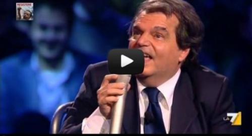 """Michele Santoro contro Brunetta: """"vada a dar via.."""" puntata di Servizio Pubblico del 22.11.2012 [video]"""
